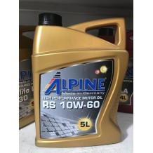 Alpine 10W-60 RS 5л  (синтетика) ACEA A3/B3, A3/B4 API SN/CF