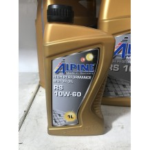 Alpine 10W-60 RS 1л (синтетика) ACEA A3/B3, A3/B4 API SN/CF