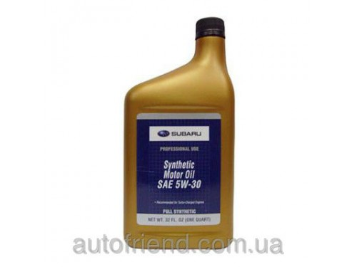 SUBARU Synthetic Motor Oil 5W-30 Моторное масло